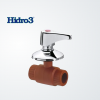 Válvula esférica p/embutir c/manivela Hidro 3