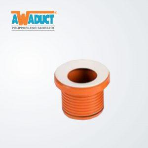 Adaptador concéntrico p/inodoro acanalado ø105 mm (2251) Awaduct