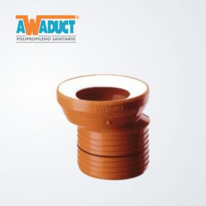 Adaptador excéntrico p/inodoro ø105mm (2071) Awaduct