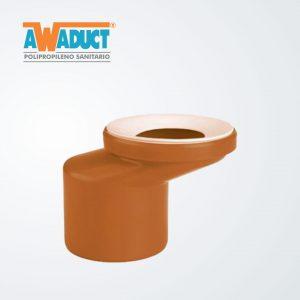 Adaptador super excéntrico p/inodoro ø 110 mm (2270) Awaduct
