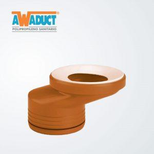 Adaptador super excéntrico acanalado p/inodoro ø 105 mm (2271) Awaduct