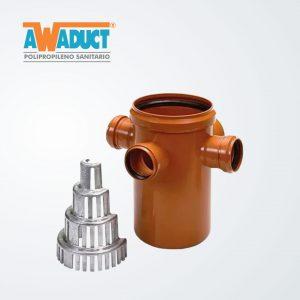 Desengrasadora c/sifón desmontable y filtro difusor ø 160mm (6070) Awaduct