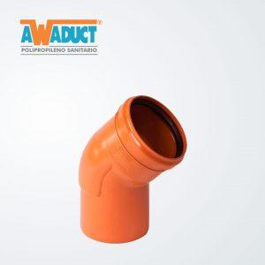 Codo 45º alto impacto ø 110 mm – M-H (2255)- Awaduct